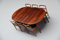 Arne Vodder Oval Rosewood Dining Table Sibast 1955 | Mass Modern Design