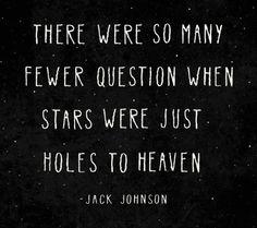 """Holes to Heaven"" lyrics by Jack Johnson."