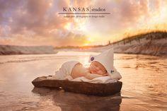 baby Rhett | 2 weeks old {beach newborn photographer} | kansas studios | kansas pitts photography