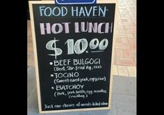 Hot Lunch $10 - A Taste of Food Haven