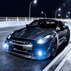 Night time cruising with a Nissan GT-R
