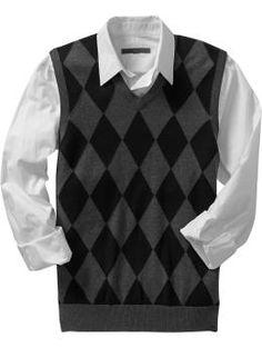 argyle sweater vest. old navy