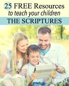 Looking for some new and exciting material to help teach your children the Bible? Look at these 25 free resources to teach your children the scriptures! :: todaysfrugalmom.com