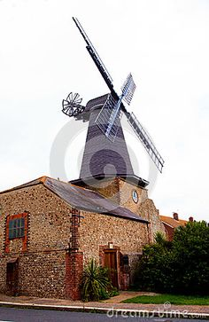 An antique windmill in on Smock Hill in Blatchington West Sussex.