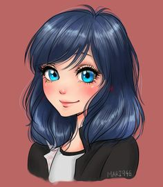 Marinette Hair Down (Miraculous: Tales of Ladybug & Cat Noir) anime Anime Disney Princess, Anime Princesse Disney, Disney Art, Princess Kida, Anime Miraculous Ladybug, Miraculous Ladybug Wallpaper, Cat Noir Cosplay, Ladybug Und Cat Noir, Meraculous Ladybug