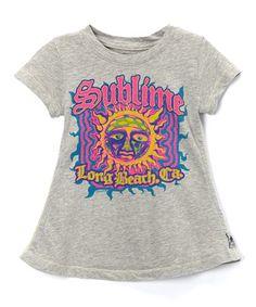 Look at this #zulilyfind! Heather Gray Neon Sun 'Sublime' Tee - Toddler & Girls #zulilyfinds