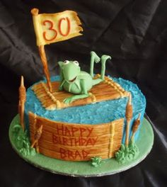 kermit the frog muppet cake