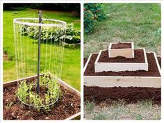 (turn the sound down - music is icky) Seriously Cheap Raised Beds [Gardening Bed Ideas]