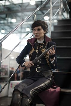 This is Empress Emily Kaldwin from Dishonored 2, by Isilmarille. Photos by kmitenkova.