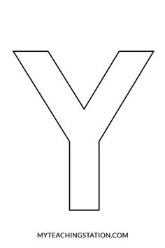 Printable Letter Y Outline Print Bubble Letter Y