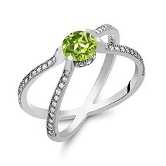 143 Ct Round Green Peridot 925 Sterling Silver  X  Ring * Check this awesome product by going to the link at the image.Note:It is affiliate link to Amazon.