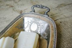 ❥ Antique Silver French Tray