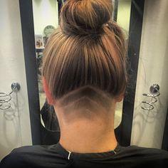 #hair #bun #highlites #Wella #wellahair #shaved #undercut @mintgalway