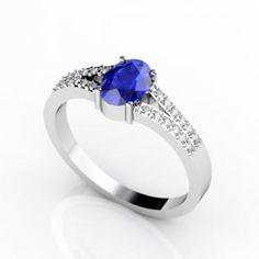 A gorgeous ring that adds glamour to the appearance consists of an oval tanzanite of around 0.680 carats with almost 24 diamonds of 0.140 carats etched beautifully on 14k white gold. It looks extremely stunning when paired up with beautiful evening attires. It looks more sizzling when worn in evening, turning the heads with its enticing appearance. It can fit in well to any occasion due to its glamorous appearance.
