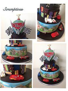 Cars 2  Cake by Scrumptiousjo