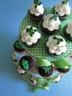 Fresh Green Cupcake Tower $68