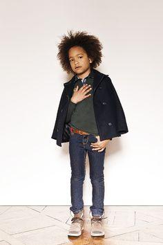 Marque enfant IKKS : Manteau et jean garçon