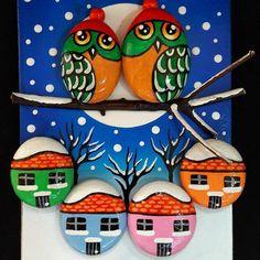 #taşboyama #taştablolar #owls                                                                                                                                                                                 Mais