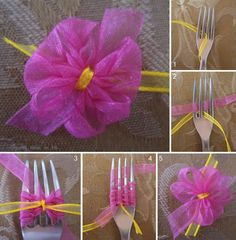 1 minute flower with a fork