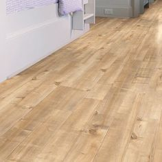 Shaw Floors Boardwalk 5 x 48 x Maple Laminate Flooring in Platform Color: Crisp Linen Installing Hardwood Floors, Wide Plank Flooring, Best Flooring, Engineered Hardwood Flooring, Wood Laminate, Waterproof Laminate Flooring, Best Laminate, Flooring Ideas, Houses