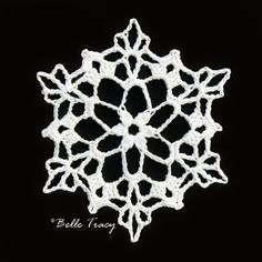 365 Crochet Snowflakes By Belle Tracy Free Crochet Snowflake Patterns, Crochet Thread Patterns, Crochet Stars, Christmas Crochet Patterns, Crochet Snowflakes, Christmas Snowflakes, Crochet Motif, Crochet Doilies, Christmas Knitting