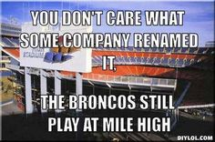 Mile High Stadium!!