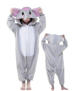 Grey Elephant Onesie Kids Kigurumi Polar Fleece Animal Costumes For Teens Onesie For Teens, Pajamas For Teens, Pajamas Women, Adult Pajamas, Cozy Pajamas, Onesie Pajamas, Pjs, Satin Pyjama Set, Pajama Set