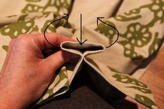 """Step by step directions on how to create beautiful pinch-pleated curtains from less expensive """"rod-pocket"""" curtains."""