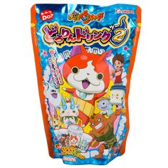 Enjoy this color changing drink inspired by the popular Japanese animated series called Youkai Watch! While this cola flavored drink starts out a purple color, after adding the second packet of powder