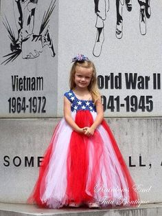 Star Spangled Tutu  Fourth of July  Pageant by Rainbows End Tutu Boutique