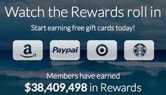 Are you earning free gift cards with Swagbucks? If not, sign up today and get 70 free bonus points when you use code CRYSTAL70.