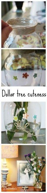 #dollartree cuteness. #Diy vase,