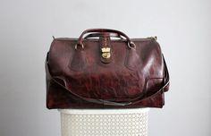 Vintage Diane Von Furstenberg leather weekend bag...in love.
