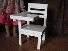 School Desk Chair for American Girl or other by MadiGraceDesigns