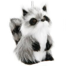 Raccoon With Fur Ornament