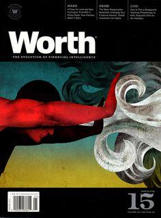 Worth, January 2012  Art Director: Dean Sebring  Illustration: Brian Stauffer  #SPDcoveroftheday