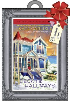 This is the DECK THE HALLWAYS #Christmas ornament I'll give away to members of my mailing list in November. Join at www.KateCarlisle.com