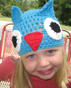 Owl Hat by OwlsNestCrochet on Etsy, $20.00