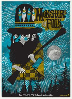 MONSTERS OF FOLK -HUNTER « Limited Edition Gig Posters « Methane Studios