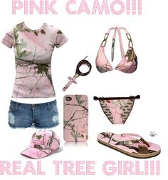 """Pink Camo Real Tree Girl!!!"" by countrychick1300 on Polyvore"