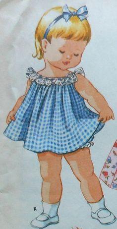 Vintage Toddler Dress Sewing Pattern