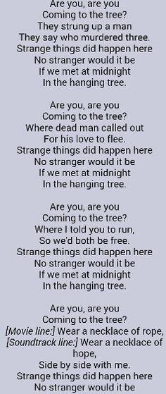 The hanging tree lyrics Hunger Games Song, Hunger Games Memes, Hunger Games Cast, Funny Lyrics, Music Lyrics, Funny Quotes, Book Nerd Problems, Hunger Games Problems, Hanging Tree Lyrics