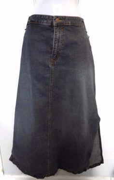 Women's Venezia by Lane Bryant Long Denim Skirt with Side Slits Size 22 #VeneziaLaneBryant #StraightPencil