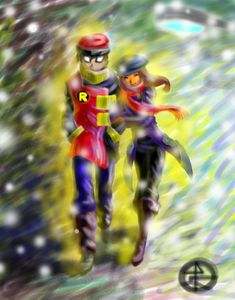 Commission for my boxes in Accvietnam forum - Western Comic Fiction and Western Cartoon to merry them christmas. By the way, merry christmas everyone, ,. Warm Christmas With You Robin Starfire, Nightwing And Starfire, Teen Titans Love, Original Teen Titans, Western Comics, Merry Christmas Everyone, Plot Twist, Comic Character, Anime Naruto