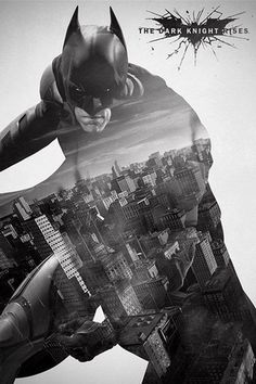 BATMAN - THE DARK KNIGHT RISES  Filmposter    Cool graphic design...