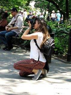 Photographer in City Hall Park, New York City. June 3, 2014.
