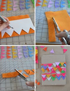 Wimpelkette DIY garland Girlanden, Geschenke verpacken How To Choose The Right Colors For Your Home Sewing Crafts, Sewing Projects, Craft Projects, Fall Crafts, Diy And Crafts, Felt Bunting, Flag Garland, Pine Cone Crafts, Felt Diy
