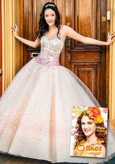 Vestidos de 15 años xv estilo princesa rosa para quinceañeras