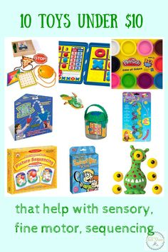 10 great toys under $10 to help children with sensory, fine motor and sequencing