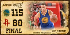 May 23, 2015 - Golden State Warriors take Game 3, lead the series 3-0.